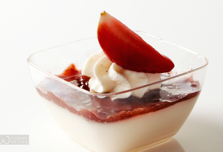 Panna Cotta with Mulberry Jam