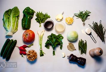 Ideas for Today's Menu: Onion Soup, Fattouch Salad & Sage Lemonade