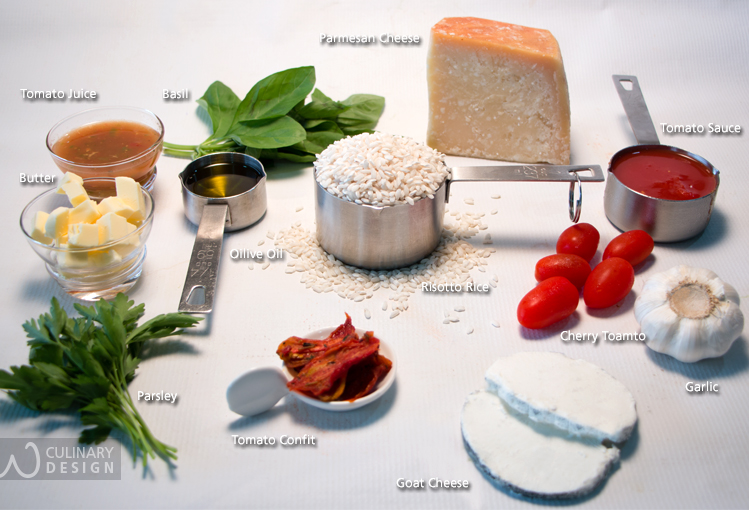 Goat Cheese and Tomato Sauce Risotto