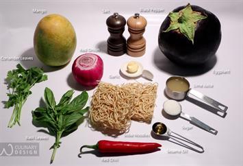 Soba Noodles with Eggplant  Mango