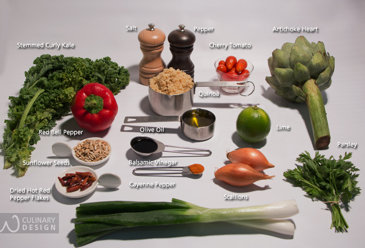 Quinoa, Kale and Artichoke Salad