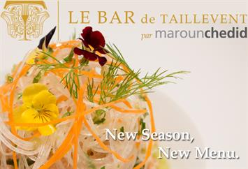 Le Bar de Taillevent par Maroun Chedid Re-Opens with a New Menu