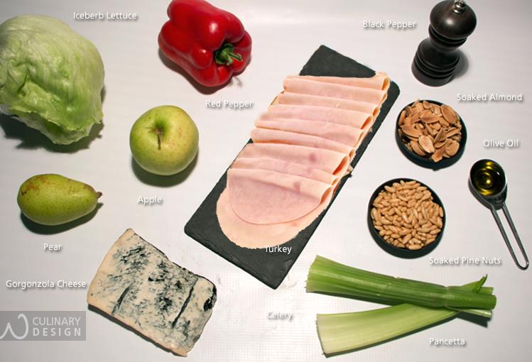 Turkey and Gorgonzola Salad