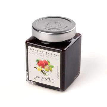 Strawberry Preserve with Madagascar Vanilla and Pistachio
